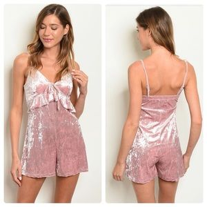 2 for $40❤️pretty velvety pink romper